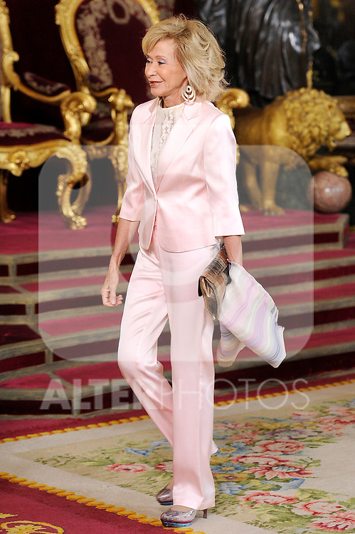Maria Teresa Fernandez de la Vega, former Minister of the Presidency during the Spain's National Day Royal Reception at Royal Palace on October 12, 2014 in Madrid, Spain. October 12 ,2014. (ALTERPHOTOS/Pool)