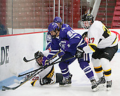 Mike Sones (Curry - 16), Mick Bruce (WIT - 27), Ben Iwanowski (WIT - 20), Michael Vallescuro (Curry - 24) - The Wentworth Institute of Technology Leopards defeated the visiting Curry College Colonels 1-0 on Saturday, November 23, 2013, at Walter Brown Arena in Boston, Massachusetts.
