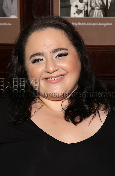 Nikki Blonsky attends the Off-Broadway cast photocell for Lisa Lampanelli's 'Stuffed' at the Friars Club on August 24, 2017 in New York City.