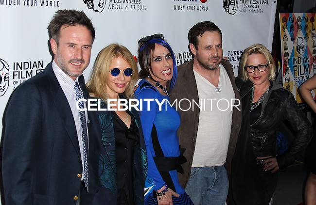 """HOLLYWOOD, LOS ANGELES, CA, USA - APRIL 08: David Arquette, Rosanna Arquette, Alexis Arquette, Richmond Arquette, Patricia Arquette at the Indian Film Festival Of Los Angeles 2014 - Opening Night Screening Of """"Sold"""" held at ArcLight Cinemas on April 8, 2014 in Hollywood, Los Angeles, California, United States. (Photo by Xavier Collin/Celebrity Monitor)"""