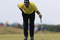 Hideki Matsuyama (JPN) on the 6th green during Friday's Round 2 of the 117th U.S. Open Championship 2017 held at Erin Hills, Erin, Wisconsin, USA. 16th June 2017.<br /> Picture: Eoin Clarke | Golffile<br /> <br /> <br /> All photos usage must carry mandatory copyright credit (&copy; Golffile | Eoin Clarke)