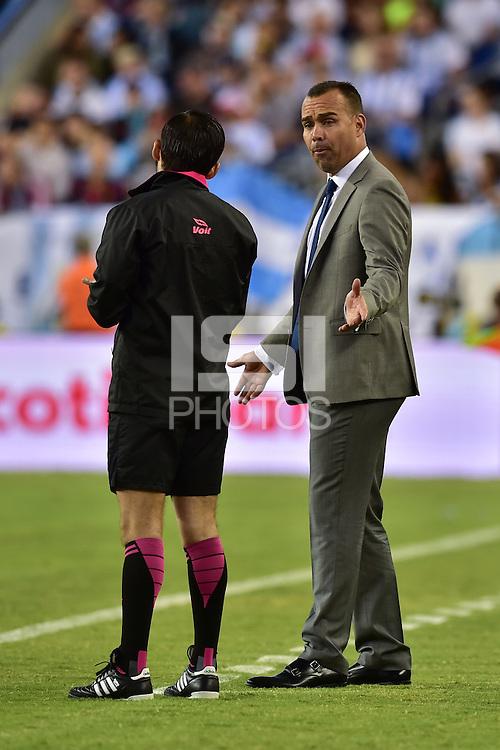 Foxborough, MA - Saturday June 18, 2016: Rafael Dudamel during a Copa America Centenario quarterfinal match between Argentina (ARG) and Venezuela (VEN)  at Gillette Stadium.