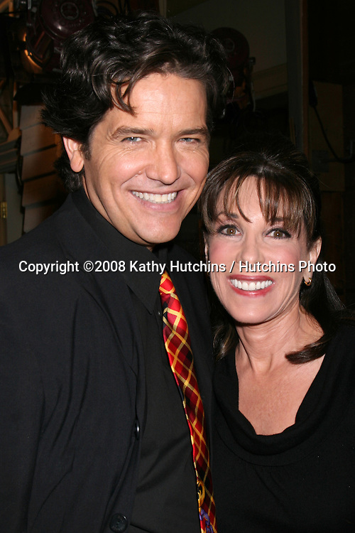 Michael Damian & Kate Linder on the set of THe Young & The Restless  celebrating  Jeanne Cooper's 80th Birthday in Los Angeles, CA on.October 24, 2008.©2008 Kathy Hutchins / Hutchins Photo...                .