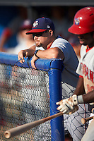 Auburn Doubledays manager Jerad Head (11) during the second game of a doubleheader against the Batavia Muckdogs on September 4, 2016 at Dwyer Stadium in Batavia, New York.  Batavia defeated Auburn 6-5. (Mike Janes/Four Seam Images)