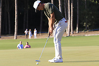 Thorbjorn Olesen (DEN) putts on the 16th green during Sunday's Final Round of the 2018 Turkish Airlines Open hosted by Regnum Carya Golf &amp; Spa Resort, Antalya, Turkey. 4th November 2018.<br /> Picture: Eoin Clarke | Golffile<br /> <br /> <br /> All photos usage must carry mandatory copyright credit (&copy; Golffile | Eoin Clarke)