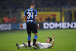 Cristiano Biraghi of Inter clashes with Marten De Roon of Atalanta during the Serie A match at Giuseppe Meazza, Milan. Picture date: 11th January 2020. Picture credit should read: Jonathan Moscrop/Sportimage