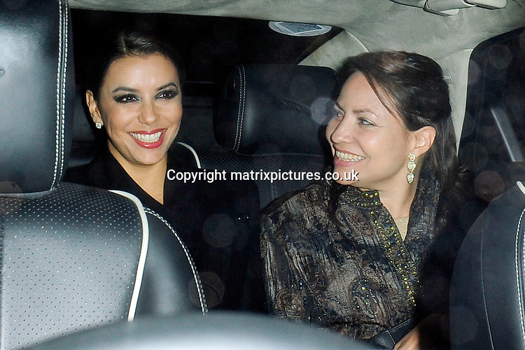NON EXCLUSIVE PICTURE: MATRIXPICTURES.CO.UK<br /> PLEASE CREDIT ALL USES<br /> <br /> WORLD RIGHTS<br /> <br /> American actress Eva Longoria attending a private dinner party, thrown for her by businessman John Caudwell at his residence in London, on the eve of her Annual Global Gift Gala event. <br /> <br /> NOVEMBER 18th 2013<br /> <br /> REF: ASI 137462
