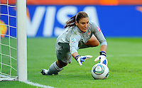 Hope Solo of team USA during the FIFA Women's World Cup at the FIFA Stadium in Dresden, Germany on July 10th, 2011.