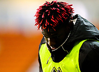 Blackpool's Armand Gnanduillet sports a new hairdo<br /> <br /> Photographer Alex Dodd/CameraSport<br /> <br /> The EFL Checkatrade Trophy Northern Group C - Blackpool v West Bromwich Albion U21 - Tuesday 9th October 2018 - Bloomfield Road - Blackpool<br />  <br /> World Copyright &copy; 2018 CameraSport. All rights reserved. 43 Linden Ave. Countesthorpe. Leicester. England. LE8 5PG - Tel: +44 (0) 116 277 4147 - admin@camerasport.com - www.camerasport.com
