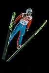 Skier jumps during the Men's Normal Hill Individual of the 2014 Sochi Olympic Winter Games at Russki Gorki Ski Juming Center on February 9, 2014 in Sochi, Russia. Photo by Victor Fraile / Power Sport Images