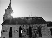 An abandoned church in Nebraska