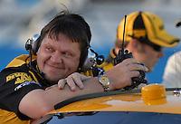 Apr 19, 2007; Avondale, AZ, USA; Robby Reiser crew chief of Nascar Nextel Cup Series driver Matt Kenseth (17) during qualifying for the Subway Fresh Fit 500 at Phoenix International Raceway. Mandatory Credit: Mark J. Rebilas