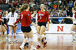 KANSAS CITY, KS - DECEMBER 14: Kelly Hunter #3 of the University of Nebraska celebrates a point against Penn State University during the Division I Women's Volleyball Semifinals held at Sprint Center on December 14, 2017 in Kansas City, Missouri. (Photo by Tim Nwachukwu/NCAA Photos via Getty Images)