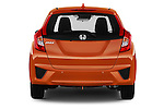 Straight rear view of 2016 Honda Jazz Elegance 5 Door Hatchback Rear View  stock images