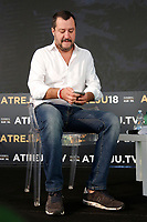 Matteo Salvini<br /> Roma 22/09/2018. Atreju 2018. Ospite il ministro dell'Interno.<br /> Rome September 22nd 2018. The Italian minister of Internal Affairs appears as a guest at Atreju 2018. <br /> Foto Samantha Zucchi Insidefoto