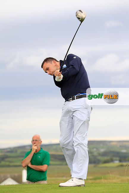Ian O'Rourke (The Royal Dublin) on the 6th tee during Round 4 of The South of Ireland in Lahinch Golf Club on Monday 28th July 2014.<br /> Picture:  Thos Caffrey / www.golffile.ie
