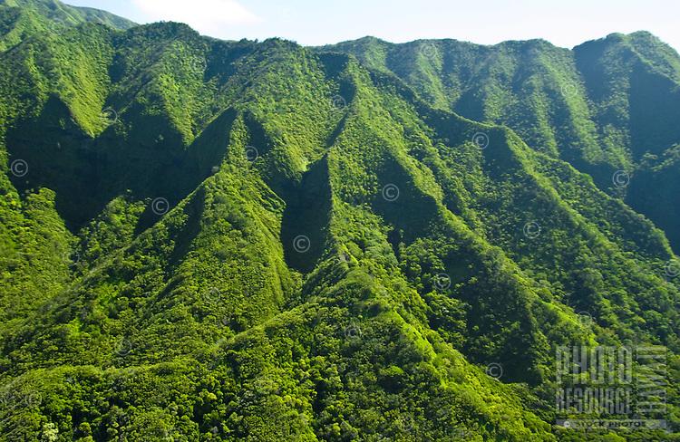 Koolau Mountains, windward Oahu, Pali