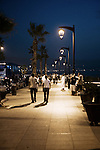 Evening on the Corniche in Beirut<br /> <br /> Le soir sur la Corniche à Beyrouth.