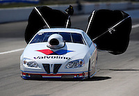 Sept. 6, 2010; Clermont, IN, USA; NHRA pro stock driver Ron Krisher during the U.S. Nationals at O'Reilly Raceway Park at Indianapolis. Mandatory Credit: Mark J. Rebilas-