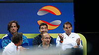 4th January 2020; RAC Arena, Perth, Western Australia; ATP Cup Australia, Perth, Day 2; Spain versus Georgia; Rafael Nadal of Spain reacts to a foot fault call by the umpire - Editorial Use