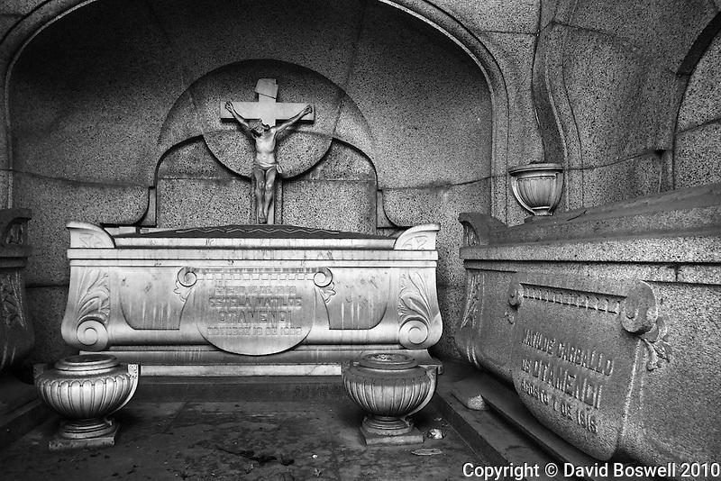A crypt in the Cementario de la Recoleta in Buenos Aires, Argentina.