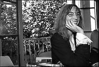 Patti Smith reading al museo Hermann Hesse a Montagnola Lugano   luglio 2003