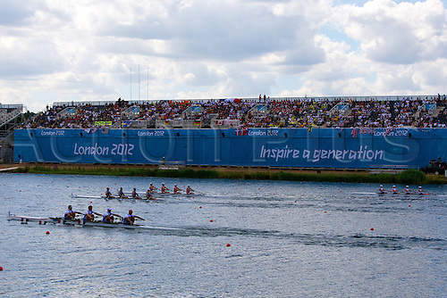 28.07.2012 Dorney Lake, Windsor, England. General Views of the lake from day 1 of the Olympic Regatta.