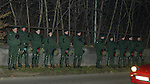 German Riot Police in Stuttgart in 2003 for the visit of Rangers which of course passed off peacefully