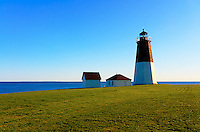 A clear day at Point Judith Lighthouse