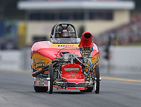 Oct 2, 2016; Mohnton, PA, USA; NHRA comp eliminator driver XXXX during the Dodge Nationals at Maple Grove Raceway. Mandatory Credit: Mark J. Rebilas-USA TODAY Sports
