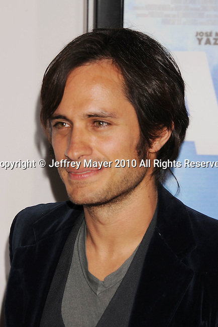 """HOLLYWOOD, CA. - November 07: Gael Garcia Bernal arrives to the AFI Fest 2010 Screening Of """"Abel"""" at Grauman's Chinese Theatre on November 7, 2010 in Hollywood, California."""