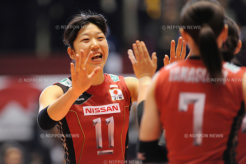 Erika Araki (JPN),.NOVEMBER 18, 2011 - Volleyball :.FIVB Women's World Cup 2011 4th Round match between Japan 3-0 United States at Yoyogi 1st Gymnasium in Tokyo, Japan. (Photo by AFLO)