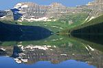 MOUNT CUSTER AND CAMERON LAKE, WATERTON NATIONAL PARK, ALBERTA, CANADA