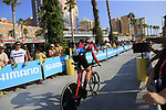 Alessandro De Marchi (ITA) BMC Racing Team during Stage 1 of the La Vuelta 2018, an individual time trial of 8km running around Malaga city centre, Spain. 25th August 2018.<br /> Picture: Ann Clarke | Cyclefile<br /> <br /> <br /> All photos usage must carry mandatory copyright credit (© Cyclefile | Ann Clarke)