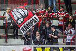 S&ouml;dert&auml;lje 2014-01-06 Ishockey Hockeyallsvenskan S&ouml;dert&auml;lje SK - Malm&ouml; Redhawks :  <br />  Malm&ouml; Redhawks supportrar i Axa Sports Center med en flagga med texten &quot;K&auml;mpa&quot;<br /> (Foto: Kenta J&ouml;nsson) Nyckelord:  supporter fans publik supporters