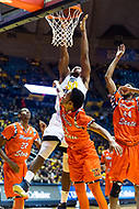 Morgantown, WV - NOV 18, 2017: West Virginia Mountaineers forward Sagaba Konate (50) goes up for a dunk during game between West Virginia and Morgan State at WVU Coliseum Morgantown, West Virginia. (Photo by Phil Peters/Media Images International)