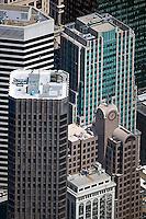 aerial photograph 55 Second Street, McKesson Plaza,33 New Montgomery Street, 595 Market Street, skyscrapers San Francisco