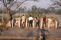 In Calcutta, India retracing Mark Twain's route around the world in 1996.