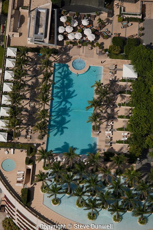 aerial view, Four Seasons hotel Millenium Tower pool, Miami, FL