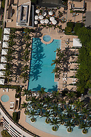 aerial view, Four Seasons hotel Millenium Tower pool, Miami, FL