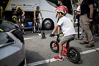 at the race start in Andorra la Vella<br /> <br /> Stage 9: Andorra la Vella to Cortals d'Encamp (94km) - ANDORRA<br /> La Vuelta 2019<br /> <br /> ©kramon