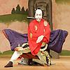 Kabuki <br /> featuring Ebizo Ichikawa XI<br /> at Sadler's Wells, London, Great Britain <br /> rehearsal <br /> 3rd June 2010 <br /> <br /> <br /> Ichikawa Ebizo (as Sato Tadanobu / the fox Genkuro)<br /> <br /> <br /> Photograph by Elliott Franks