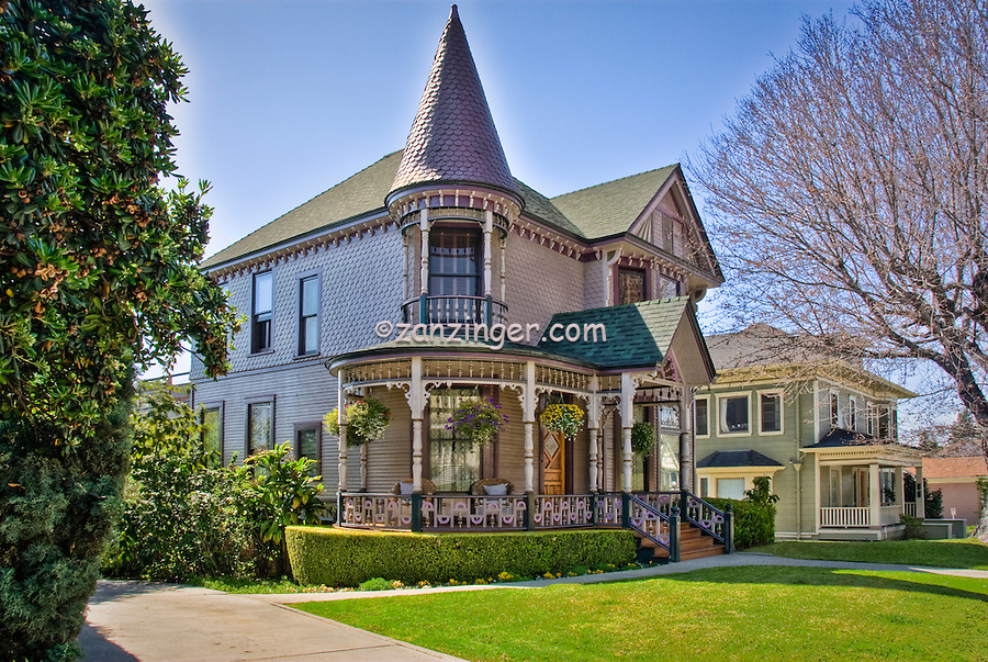 Carroll  Ave - Echo Park - Los Angeles, CA, Beautifully restored Victorian home, Victorian residences and carriage houses