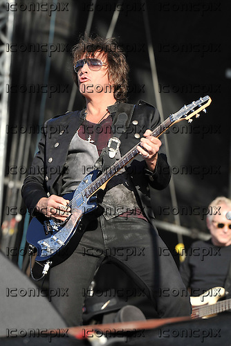 Bon Jovi - guitarist Richie Sambora performing live as the headline act on Day Two of the Hard Rock Calling Festival in Hyde Park London UK - 25 Jun 2011.  Photo credit: Zaine Lewis/IconicPix