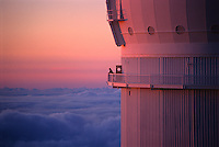 Watching sunset from the catwalk of the Canada-France-Hawaii Telescope, Mauna Kea Observatory, Hawaii