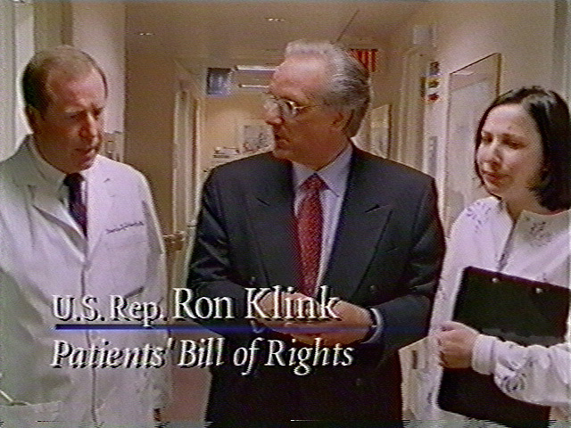 RC20000310-104-XX: March 10, 2000: Ron Klink video.