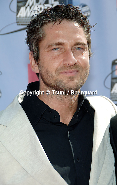 Gerald Butler at the MTV Movie Awards at the Universal Amphitheatre in Los Angeles.<br /> <br /> headshot<br /> eye contact