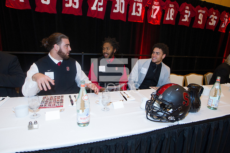 STANFORD, CA - DECEMBER 7, 2014-Stanford Football team banquet at the Arrillaga Alumni Center on Stanford University campus.