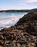 AUSTRALIA, Kangaroo Island, Hanson bay, waves crashing on rocks at shore