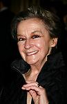 Zoe Caldwell arriving for the Opening Night performance of FROST NIXON at the Bernard B. Jacobs Theatre in New York City.<br />April 22, 2007